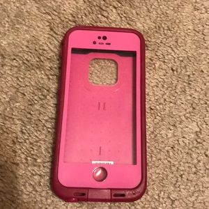 Pink iPhone 5s life proof